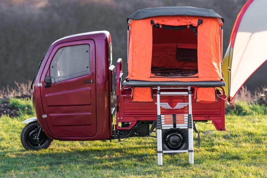 Elektro Frosch mini camping scooter trike